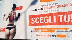 """Offerte lavoro Genova  Contestato il cartellone pubblicitario di una palestra. Qualche anno fa il Comune faceva rimuovere i manifesti offensivi  #Liguria #Genova #operatori #animatori #rappresentanti #tecnico #informatico Genova quel """"lato B"""" che offende le donne"""
