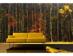 """Mural """"Autumn Lines"""". A Wallpaper Mural by Muralunique.com. Photography by Lars Van de Goor."""