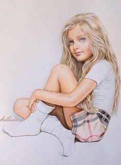 Amazingly beautiful girls drawn by talented illustrators - Conand Repair