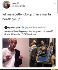 Tell me a better glo up than a mental health glo up . queen quen 0 - a mental health glo up. I'm so proud of myself dude. I Iiterally LOOK healthier - iFunny :) Funny Tweets, Funny Jokes, That's Hilarious, Mental Health Memes, Glow Up Tips, Glo Up, Joke Of The Day, Proud Of Me, Immune System