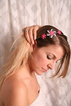 Fashion headbands, Women hair accessory, Pink headband, Pink flower headband, Pink headpiece, Pink hair accessory, Flower headpiece women - pinned by pin4etsy.com