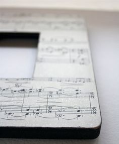 Decoupaged Music Sheet Frame $14