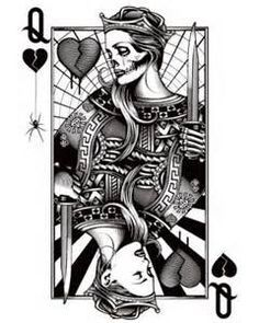 queen of hearts tattoo - Google Search