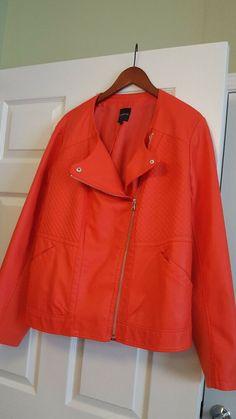 a497383ebcc Womens Lane Bryant faux leather Moto jacket size 22 24 Brand New  fashion