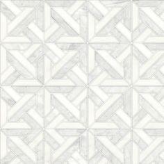Talya Multi Finish 9 11/16x9 11/16 Marmara Av D Marble Waterjet Mosaics - Country Floors of America LLC.