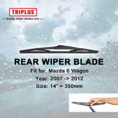 "Rear Wiper Blade for Mazda 6 Wagon (2007-2012) 1pc 14"" 350mm,Car Rear Windscreen Wipers,Back Window Windshield Wiper Blades"