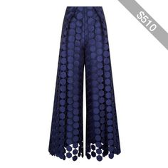 Solace London Hallie Embroidered Wide Leg Trousers
