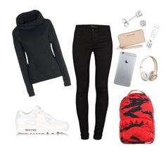 """""""🤓"""" by dreairrational on Polyvore featuring Amanda Rose Collection, NIKE, Beauty Rush, J Brand and Michael Kors"""