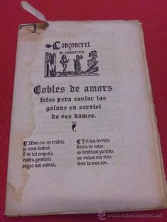 INTERESATE LOTE. CANÇONERET DE ENAMORATS. COMPLETO. 7 LAMINAS. MUY RARO