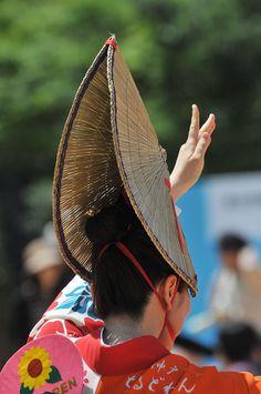 Japanese Awa odori dancer 阿波踊り