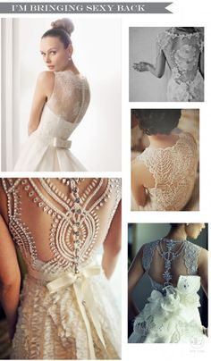 The latest trend in wedding dresses is the Sexy Back Wedding Dress.  It is chic, sexy yet intriguing and romantic, it's an absolute stunner…