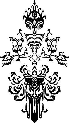 Explore Disney Haunted Mansion Wallpaper Stencil on WallpaperSafari Haunted Mansion Disney, Haunted Mansion Decor, Haunted Mansion Tattoo, Haunted Mansion Wallpaper, Haunted Mansion Halloween, Halloween Signs, Disney Halloween, Halloween 2019, Halloween Ideas