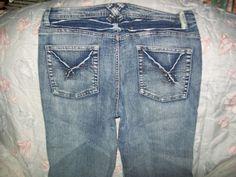 11-12 Apollo Jeans Junior Blue Distressed Sequins Stretch Flared Jeans  #Apollo #Flare