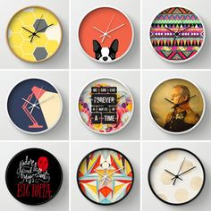 Society6 now has a line of wall clocks. Sweet!