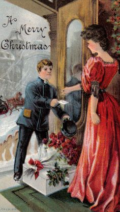 A lovely turn of the century Christmas postcard. #vintage #Christmas #cards
