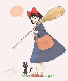 Totoro, Studio Ghibli Art, Studio Ghibli Movies, Hayao Miyazaki, Personajes Studio Ghibli, Fanart, Kiki's Delivery Service, Cute Cartoon Wallpapers, Aesthetic Anime