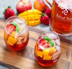 Iced Tea Sangria | Refreshing brewed iced tea is combined with wine and seasonal fruit for a perfect party drink. @kirbie