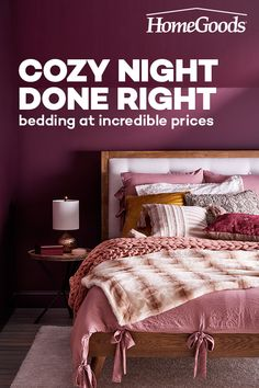 Fill your fall with cozy nights! Shop HomeGoods all season long to find textured blankets, down comforters, printed sheets and more at incredible prices. Design Jobs, Hvac Design, Design Museum, Lowes Home Improvements, Home Improvement Projects, My Room, Designer, Home Goods, Bedroom Decor