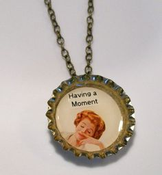 Having a Moment Bottlecap Necklace
