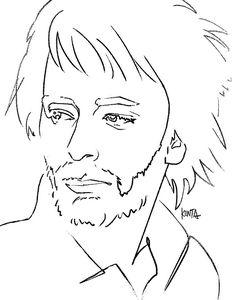 #ThomYorke #Radiohead #summersonic #illustration #art #kentaueoka #ウエオカケンタ