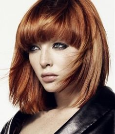Love the bangs and the color.