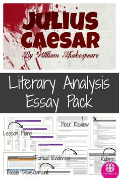 a literary analysis of mark anthonys speech in julius caesar by william shakespeare No fear shakespeare julius caesar mark antony, take caesar's body you will not blame us in your funeral speech, but will say all the good.
