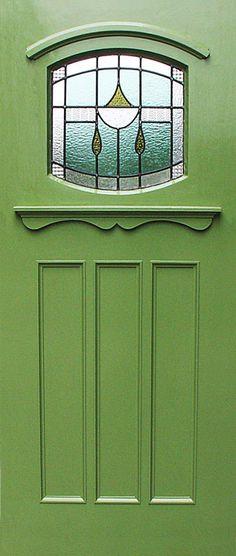 """The Hardwick"" (BOD11). A 1930s design of door. Hand made in the UK by The Bespoke Door Company"