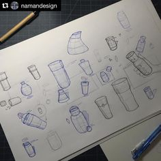 Repost From Industrial Design Student Namandesign Bottle Concept Sketching Asudesignschool