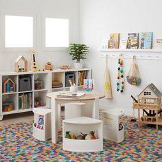 Playroom Table, Toddler Playroom, Playroom Decor, Boys Playroom Ideas, Playroom Seating, Toddler Play Area, Kid Decor, Toddler Bedroom Ideas, Playroom Colors