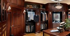 custom millwork dressing room | Large view of a Dressing Room Design - Hunt Club Valet by Wood-Mode ...
