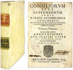 Consiliorum Sive Responsorum Iuris | Francesco Antonio Costa, Placidio Costa