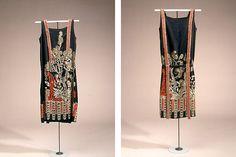 Charlestonkjole i sort silke, fra ca. 1925. - Nationalmuseet