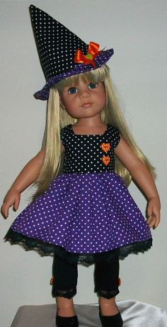 """Vintagebaby witches outfit made to fit 18-20"""" dolls Gotz/Designafriend Hannah"""