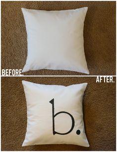 Merricks Art: Monogrammed Throw Pillow (Tutorial)