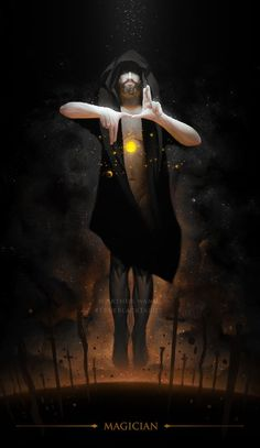 True Black Tarot: Humanity as artifacts of our beliefs - Page 15 - Aeclectic Tarot Forum Magician Art, The Magician Tarot, Dark Fantasy, Fantasy Art, Character Inspiration, Character Art, Magia Elemental, Male Witch, Free Tarot Reading