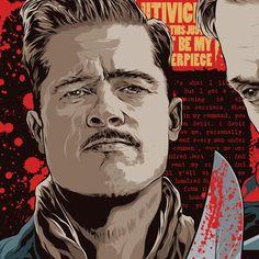 Brad Pitt from Inglourious Basterds [Art by Mondo] #TarantinoXX