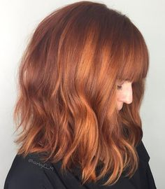 Ginger Hair with Blunt Bangs