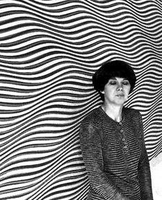 Bridget Riley - British artist black and white op artist