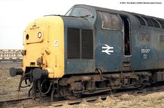 55017 (The Durham Light Infantry) in store after withdrawal at BREL Doncaster - © 2014 - Models of Hull Collection. Electric Locomotive, Diesel Locomotive, Uk Rail, Derelict Places, Abandoned Train, Train Pictures, Electric Train, British Rail, Old Trains
