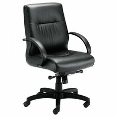 Basyx by HON Executive Plush Leather High-Back Desk Chair - Leather Black Seat - Back - Metal Black Frame - x x Overall Dimension. Buy Executive/High Back Chairs Online from Grand Crayon. Executive Office Chairs, Home Office Chairs, Office Furniture, Furniture Ideas, Herman Miller, Black Leather Chair, Leather Chairs, Conference Chairs, Conference Room