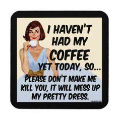 Coffee Killer Cork Coaster (set of 6)