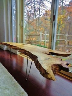 Nakashima Style Live Edge Coffee Table by dichotomyinteriors. Need this in my life