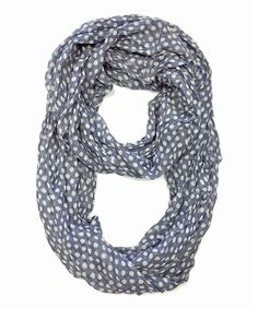 Look what I found on #zulily! Gray & White Polka Dot Infinity Scarf by East Cloud #zulilyfinds