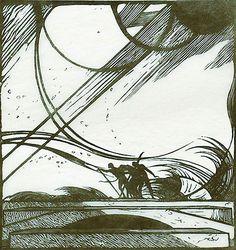 Storm - King Lear - Edward Gordon Craig, wood engraving
