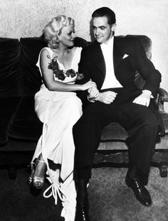 tinseltownmyway:    Jean Harlow and Howard Hughes