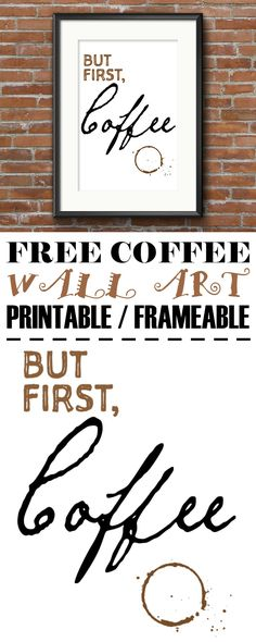Add some character to your space with this FREE coffee lovers wall art printable / frameable. Simply download, print, frame and hang for a sophisticated one-of-a-kind piece of art that showcases your love of the delicious brew.