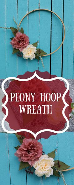 FREE SHIPPING!!/ Wreath Hoop Peony/ Embroidery hoop/ Nursery decor/ All year round wreath/ fixer upper wreath/ home decor/ hoop #peony #etsy #wreath #hoop #spring #frontdoorwreath #nursery #nurserydecor #etsyfinds #etsywreath #babynursery #floral #farmhouse #fixerupper #wooden