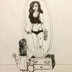 This just breaks my heart. This is how I feel right now going through sobriety. I'm trying to save that little girl in me from that monster I still see..