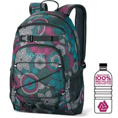 Dakine Grom 13L - This is usually packed away in my bigger duffel, and it's a perfect size for when you don't want to carry too much. Love the mesh pockets on the side; they fit my water bottles perfectly.