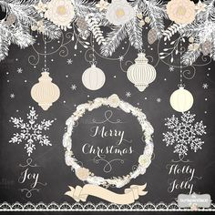 Check out Vintage chalk christmas color by burlapandlace on Creative Market Christmas Colors, Winter Christmas, Vintage Christmas, Christmas Wreaths, Christmas Decorations, Holiday Decor, Christmas Clipart, Christmas Cards, Christmas Graphics